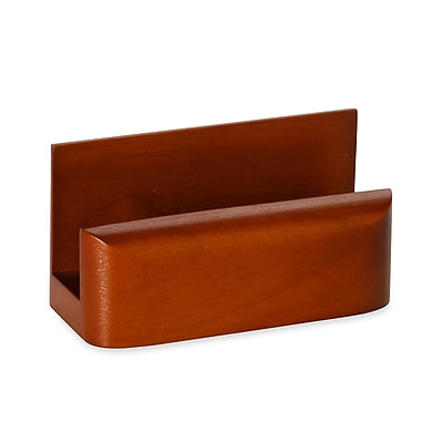 Wood Tones™ Mahogany-Finish Business Card Holder