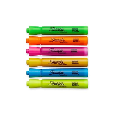 Sharpie® Accent® Tank Highlighters, Chisel Tip, Assorted Colors, 6/pk (25076)