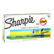 Sharpie® Accent® Retractable Highlighter, Chisel Tip, Fluorescent Green, 12/pk (28026)