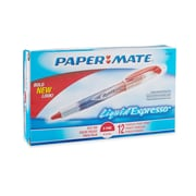 Paper Mate® Liquid Flair® Porous Point Pens, Extra Fine Point, Red, Dozen
