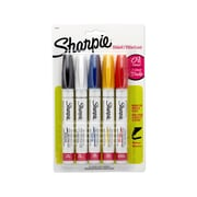 Sharpie® Paint Oil-Based Paint Marker, Medium Tip, Assorted, 5/pk (34971PP)