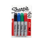 Sharpie® Chisel Tip Permanent Markers, Assorted, 4/pk (38254PP)