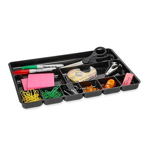 Rubbermaid Regeneration 174 Black Plastic Drawer Tray