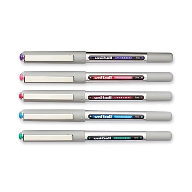 uni-ball® Vision Rollerball Pen, Fine Point, Assorted, 12/pk (60387)