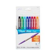 Paper Mate® Flair® Felt-Tip Pens, Ultra Fine Point, Assorted, 8/Pack (62145)