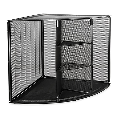 Rolodex wire mesh corner organizer 13 h x 20 w x 14 d black 62630 staples - Storage staples corner ...