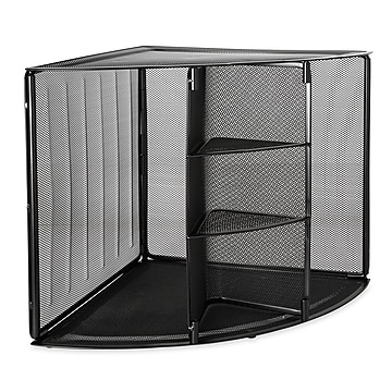 Rolodex Stackable Wire Mesh Compartment Storage, Black (62630)