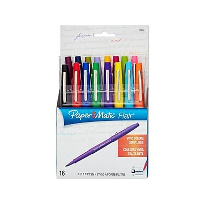 Paper Mate® Flair® Felt Tip Pens, Medium Point, Assorted, 16/pk (70644)