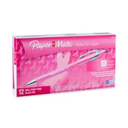 Paper Mate® FlexGrip® Elite Write for Hope Retractable Ballpoint Pen, Medium Point, 1.0 mm, Black Ink, 12/pk (70672)
