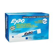 Expo® Chisel Tip Dry-Erase Markers, Blue, 12/pk (83003)