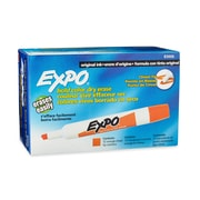Expo® Dry-Erase Markers, Chisel Tip, Orange, 12/pk (83006)