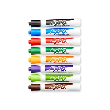 Expo® Original Dry-Erase Markers, Chisel Tip, Assorted, 8/pk (83078)