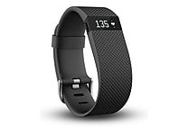 Fitbit ChargeHR Heart Rate Activity Wristband, Large, Black (FB405BKLS)