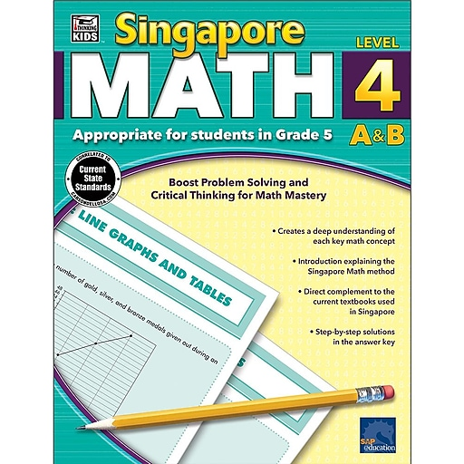 Thinking Kids Singapore Math Workbook for Grade 5 | Staples