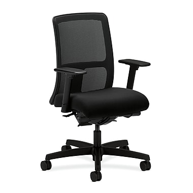 HON Ignition Fabric Computer and Desk Office Chair, Adjustable Arms, Black (HONIT201CU10)