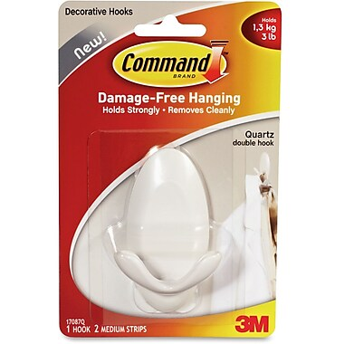 Command Adhesive Double Hanging Hook, Each