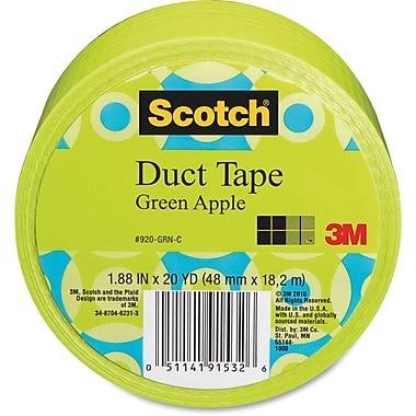 Scotch – Ruban à conduits coloré à motifs, pommes vertes