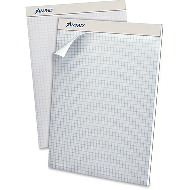 TOPS Quad-Grid Perforated Pad, 50 Sheets/Pad
