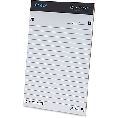 Ampad – Grand bloc-notes ligné Shot Note, 40 feuilles/bloc