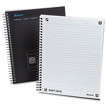 Ampad Shot Note Spiral Notebook, 60 Sheets/Pad