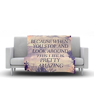 KESS InHouse Pretty Amazing by Rachel Burbee Fleece Throw Blanket; 60'' H x 50'' W x 1'' D