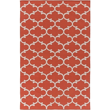 Artistic Weavers Vogue Lola Coral/Ivory Area Rug; 9' x 12'