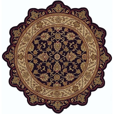 LR Resources Shapes Black/Ivory Persian Rug; Novelty 7'9'' x 7'9''