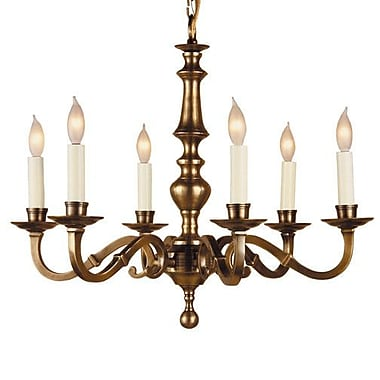 JVI Designs 6-Light Candle-Style Chandelier; Weathered Bronze