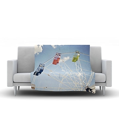 KESS InHouse The Show Came to Town by Susannah Tucker Fleece Throw Blanket; 40'' H x 30'' W x 1'' D