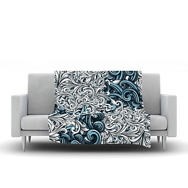 KESS InHouse Celtic Floral II by Nick Atkinson Fleece Throw Blanket; 60'' H x 50'' W x 1'' D