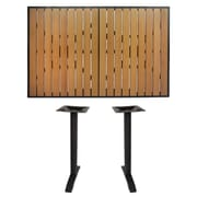 BFMSEATING Longport Bar Table; Black