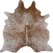 Deco Hides Natural Cowhide Salt/Pepper Hand-Woven Brown Area Rug