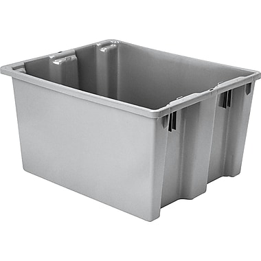 Lewis Bins + – Contenants Stack-N-NestMD Polylewton, 24 x 20 po, gris, 5/paquet