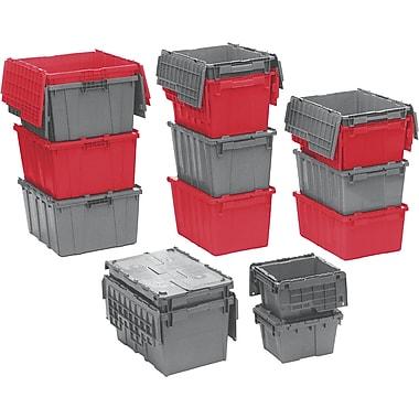 Orbis FlipakMC – Contenants de distribution en plastique polyéthylène (PE), 23,9 x 19,6 po, rouge, paquet de 2