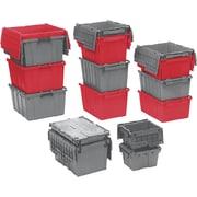 Orbis FlipakMC – Contenants de distribution en plastique polyéthylène (PE), 22,3 x 13,0 po, gris, 3/paquet