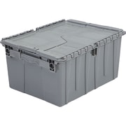"Orbis FlipakTM Polyethylene Plastic (PE) Distribution Containers, 19.7"" x 11.8"", Grey, 3/Pack"