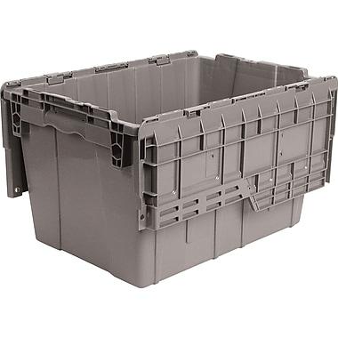 Orbis FlipakMC – Contenants de distribution en plastique polyéthylène (PE), 21,8 x 15,2 po, 6,5 lb, gris, paquet de 3