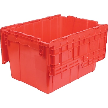Orbis FlipakMC – Contenants de distribution en plastique polyéthylène (PE), 21,8 x 15,2 po, 6,5 lb, rouge, paquet de 3