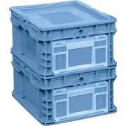Orbis – Contenants de distribution FlipakMC en plastique polyéthylène (PE), 24 x 15 (po), bleu royal, 6/paquet