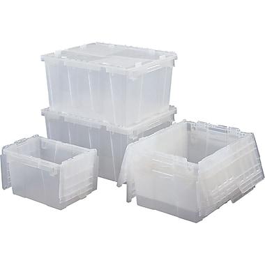 Orbis FlipakMC – Contenants de distribution,plastique polyéthylène (PE), 11,8 x 9,8 po, gris, 3/paquet