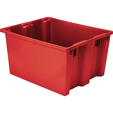 Lewis Bins+ – Contenants Stack-N-NestMD Polylewton, 24 x 14,1 po, rouge, paquet de 3