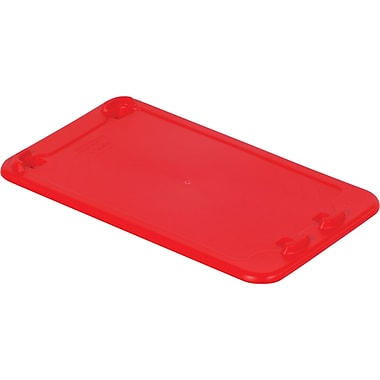 Lewis Bins+ – Couvercles pour contenant SN2414-8 Stack-N-NestMD Polylewton, rouge, 5/paquet
