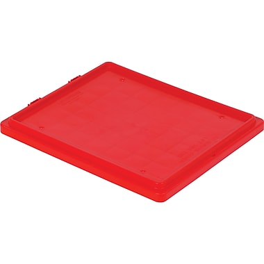 Lewis Bins+ – Couvercles pour contenant SN2420-13 Stack-N-NestMD Polylewton, rouge, 5/paquet