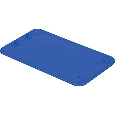 Lewis Bins+ Polylewton Stack-N-Nest® Containers Covers for SN2414-8, Blue, 5/Pack