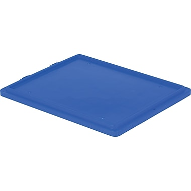 Lewis Bins+ Polylewton Stack-N-Nest® Containers Covers for SN2618-10, Blue, 5/Pack
