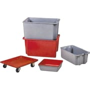 "Lewis Bins+ Stack-N-Nest Plexton Containers, 20.0"" x 10.7"", Grey, 2/Pack"