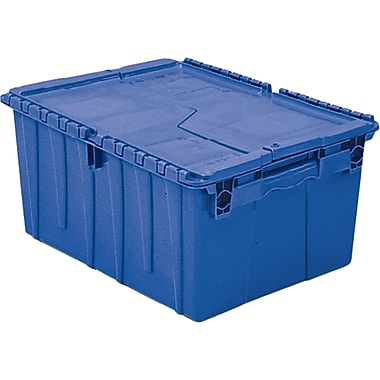 Orbis FlipakMC – Contenants de distribution en plastique polyéthylène (PE), 11,8 x 9,8 po, bleu, 3/paquet