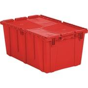 "Orbis FlipakTM Polyethylene Plastic (PE) Distribution Containers, 26.9"" x 17.1"", Red"