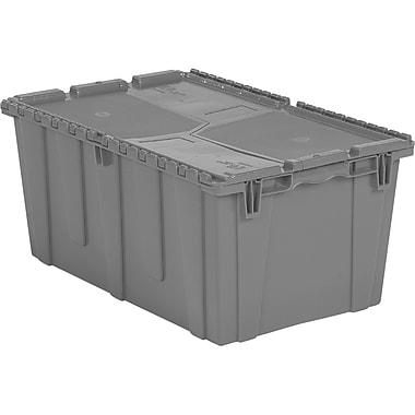 Orbis FlipakMC – Contenants de distribution en plastique polyéthylène (PE), 26,9 x 17,1 po, gris