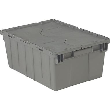 Orbis FlipakMC – Contenants de distribution en plastique polyéthylène (PE), 21,8 x 15,2 po, 5,1 lb, gris, 2/paquet